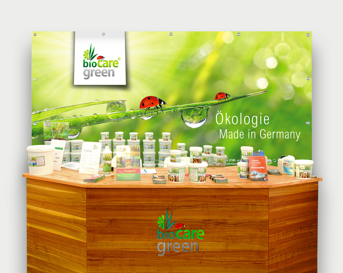 biocaregreen-messestand